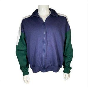 Claybrooke Sport Men's Tricolor Zip-Up Jacket Sz L